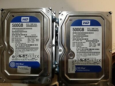 LOT of 12 500GB WD5000aaKX 3.5 inch Desktop Hard Drives tested and wiped