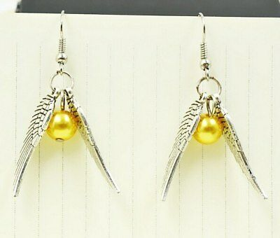 Golden Snitch Studs Earrings Harry Potter Deathly Hallows Symbol Steampunk Stud