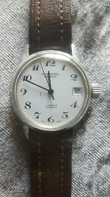 Vintage Bravingtons Wetrista 17 Jewels Swiss Made Mens Watch