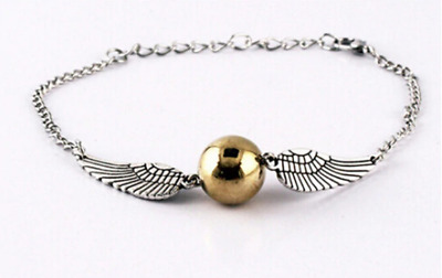 NEW Harry Potter Golden Snitch Bracelet With Silver Wings - Girls Jewellery Xmas