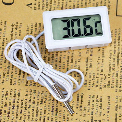 157E LCD Embedded Digital Thermometer For Fridge Aquarium Temperature Home Kitch