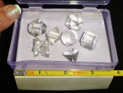 Dino: Clear Quartz Crystal Sacred Geometry Set - 56 grams