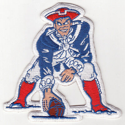 """🏈NEW ENGLAND PATRIOTS 4"""" NFL Football Team Retro/Throwback Iron-on Jersey PATCH"""
