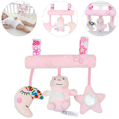 Newborn Infant Baby Pram Handbell Bed Stroller Soft Hanging Bear Toy Rattles New