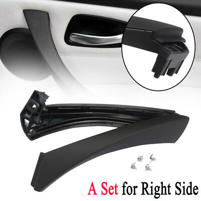 Car Right Inner Door Panel Handle Pull & Trim Cover For E90 E91 316 318 320 325