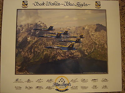 """Closeout! Official 2016 BLUE ANGELS """"70th Anniversary Year""""  11""""x14"""" PRINT LITHO"""