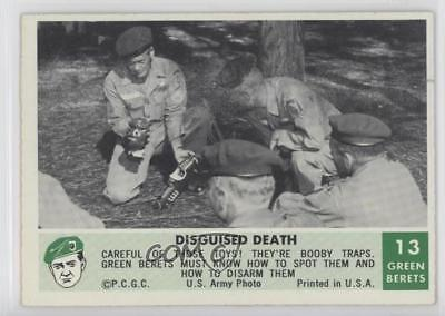 1966 Philadelphia Men of the Green Berets 13 Disguised Death Non-Sports Card 0s4