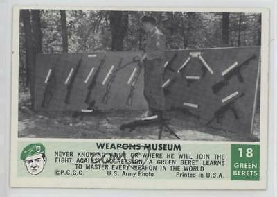 1966 Philadelphia Men of the Green Berets #18 Weapons Museum Non-Sports Card 0s4