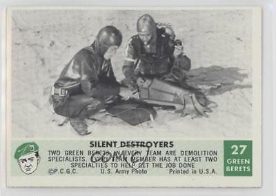 1966 Philadelphia Men of the Green Berets #27 Silent Destroyers Card 0s4
