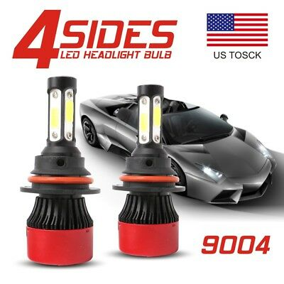 4Side True 360° 9004 HB1 LED Headlight Kit High Low Beam Bulb 6500K 72W 16000LM