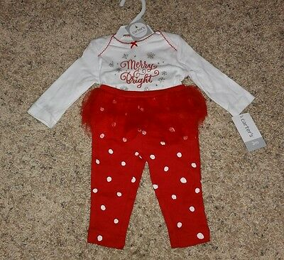 d6a285c3fdc8 TODDLER GIRLS CARTER S Christmas Pajama Outfit with Handmade Ruffles ...