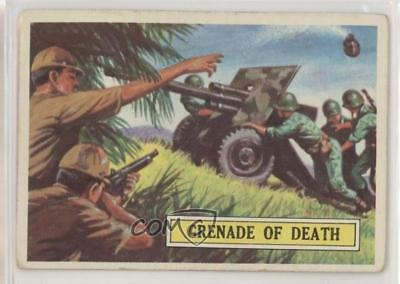1965 Topps Battle: The Story World War II 4 Grenade of Death Non-Sports Card 0s4