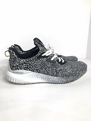 53bed4a858774 ADIDAS ALPHABOUNCE M Aramis Core Black White B54366 size 10.5 ...