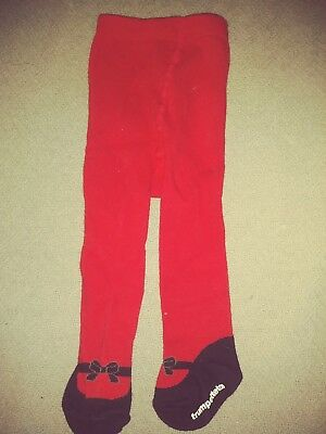 Trumpette Too Baby Christmas Tights Red 6 To 12 Months