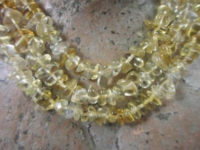 Economic: Honey Citrine as Strand with Nuggets ca.7-8mm