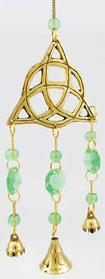 Brass Triquetra wind chime Wiccan Pagan Witchcraft Home Decor