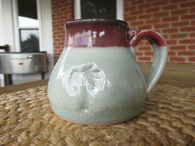 Vintage Hand Thrown Pottery Coffee Cup Mug Signed