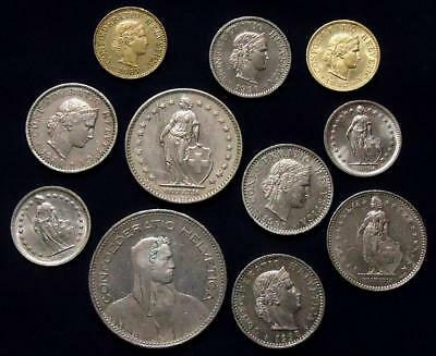 Switzerland Lot Of 11, See Pics 0.99 Cents Auction