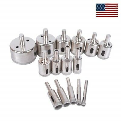 15pcs Diamond Drill Bit Set 6mm-50mm Tile Marble Glass Ceramic Hole Saw Drilling