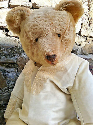 Impressive antique early American Ideal growler hump mohair teddy bear,1900s,29""