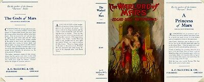 Burroughs -THE WARLORD OF MARS facsimile jacket for 1st A. C. McClurg edition