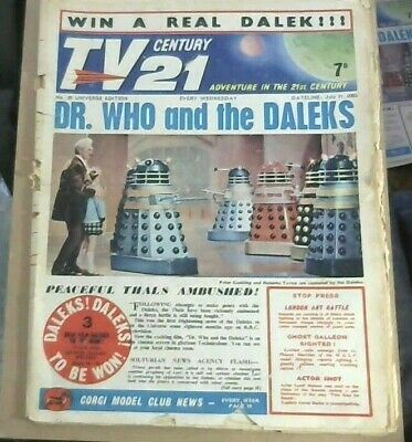 TV CENTURY 21 # 28 July 31 1965/2065 Stingray/Daleks/Fireball xl5/Lady Penelope