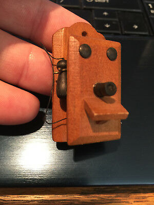 "dollhouse wooden wall phone 2"" x 1"""