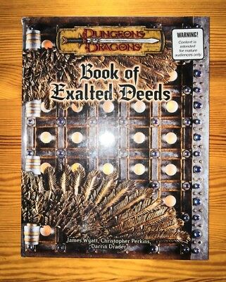 Book of Exalted Deeds Dungeons & Dragons D&D 3rd