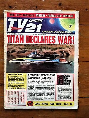 TV CENTURY 21 # 5 Feb 20 1965/2065 Stingray/Daleks/Fireball xl5/Lady Penelope