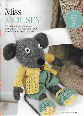 Miss Mousey Knitting Pattern Soft Toy and Coat and Bloomers Cilla Webb