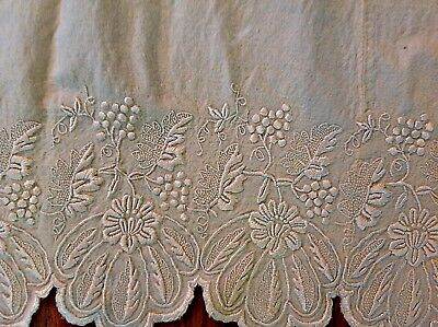 ANTIQUE Lot of Quirky Linens Silk Lace Funny Framable
