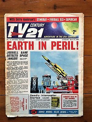 TV CENTURY 21 # 10 March 27 1965/2065 Stingray/Daleks/Fireball xl5/Lady Penelope