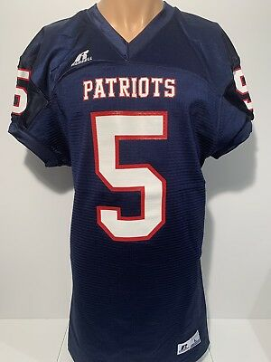 NEW New England Patriots Russell Football Jersey Men s Large  5 NFL FREE  SHIP f8e158a1a