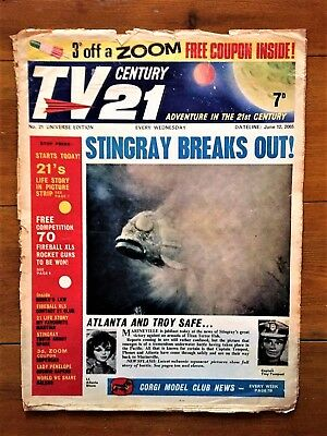 TV CENTURY 21 # 21 June 12 1965/2065 Stingray/Daleks/Fireball xl5/Lady Penelope