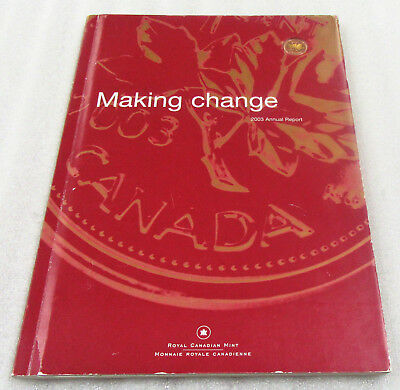 2003 RCM Annual Report BU 1 CENT Royal Canadian Mint & Numbered