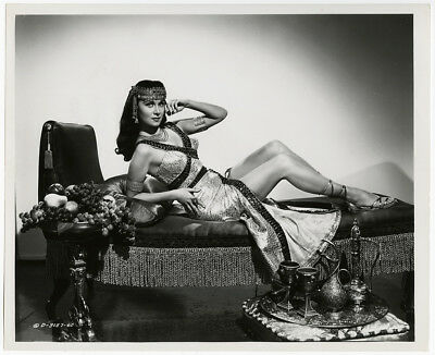 Rhonda Fleming Pin-Up Cleopatra Vintage Serpent of the Nile Photograph 1953 Rare