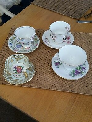 Bone China, Variety of Cups and Saucers