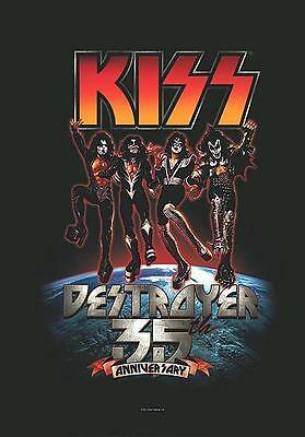 """Kiss Flagge / Fahne """"destroyer 35Th Anniversary"""" Poster Flag"""