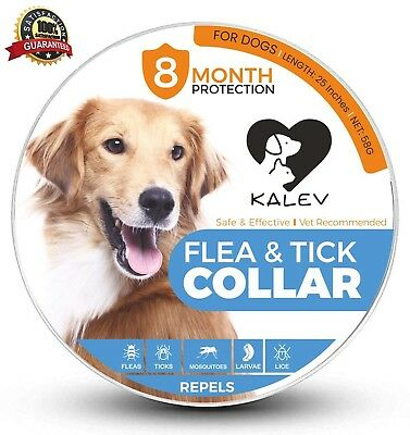 Kalev Flea and Tick Collar for Pet Dogs and Cats - Vet Recommended