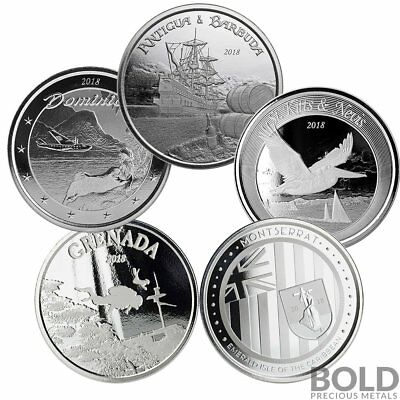 BOLD Set: 2018 Eastern Caribbean Central Bank - 5 Coin Collector Set
