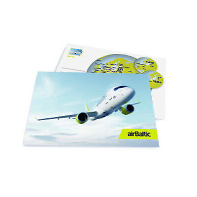 NEW airBaltic Latvian Airlines Postcard Winter 2018  Airbus A 220-300