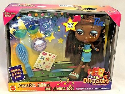Mattel 2000 Diva Starz Tia Doll: Poseable Talking and Singing Collectible Series