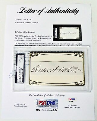 CHESTER A. ARTHUR 21st President of the United States PSA/DNA Autograph RARE