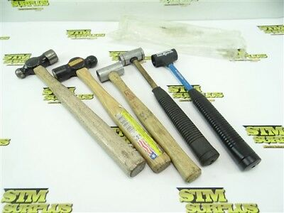 5Pc Lot Of Soft Face & Ball Peen Hammers Armstrong Council +++