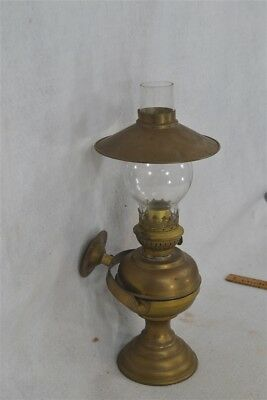 gimbal oil lamp lantern brass wall mount table top ship light complete antique