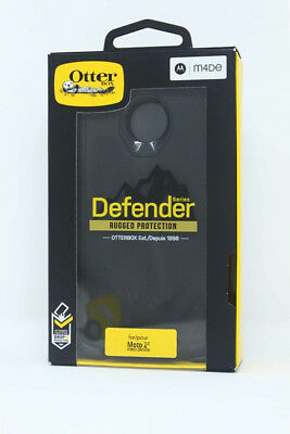 New OEM OtterBox Defender Series Black Case For Moto Z2 Force Edition