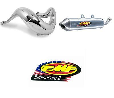 Fatty Exhaust Pipe & Turbinecore 2 Silencer w/ Decal for HONDA CR125R 2000-2001