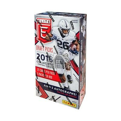 2018 Panini Elite Draft Picks Collegiate Football Hobby Box