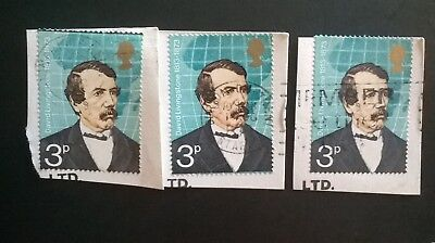 3 GB ERROR/VARIETY USED 3p COMMEMORATIVE 1973 SG923 STAMPS PERF SHIFTS TOP/BASE