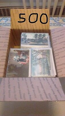 FREE SHIPPING Box Lot Postcards 500 standard US only no foreign qsl rack cards